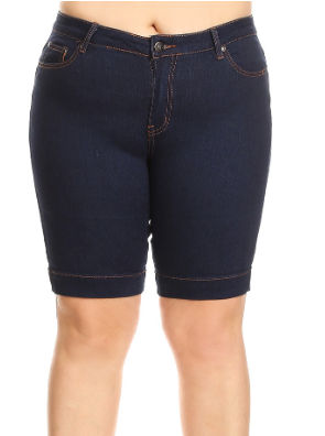 Dark Blue Bermudas {Plus Size}