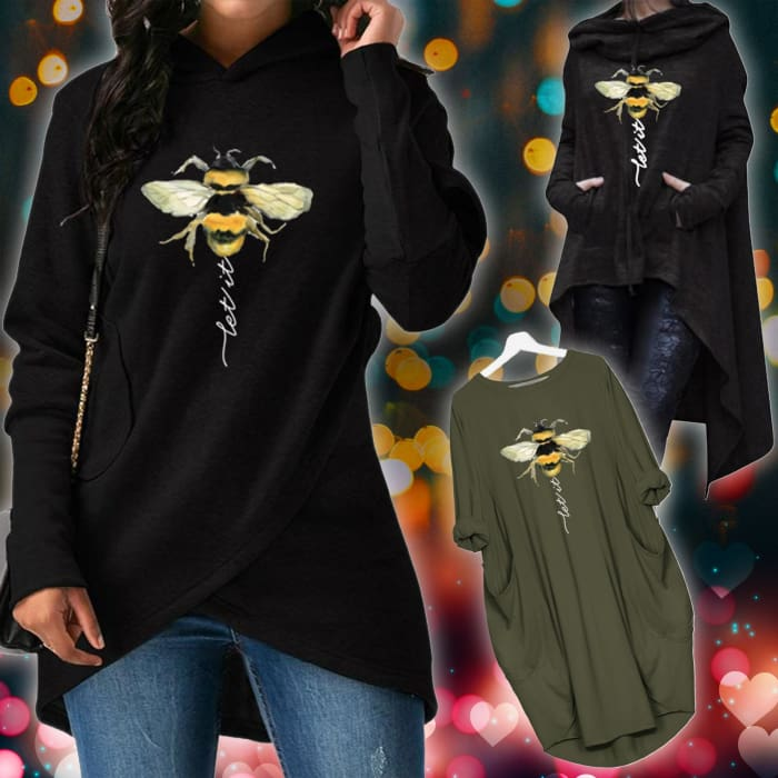 3 in 1 Bundle - Letgo - Let It Bee Designs For Her Hoodie Just Superb Free Shipping