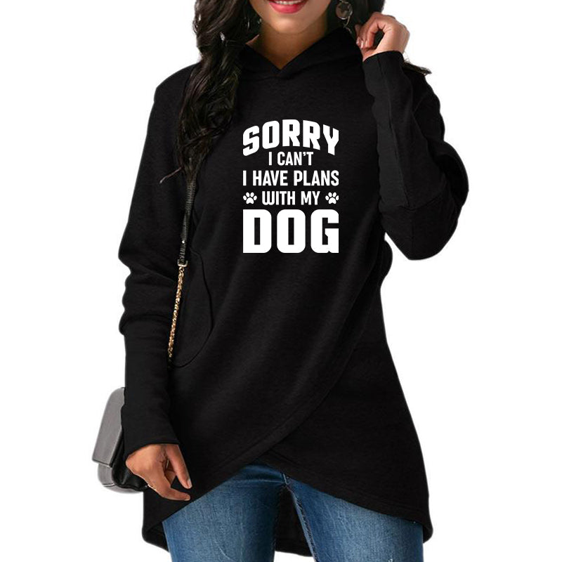 "Lucy™ - ""Sorry I Can't, I Have Plans With My Dog"" Hoodie For Her"