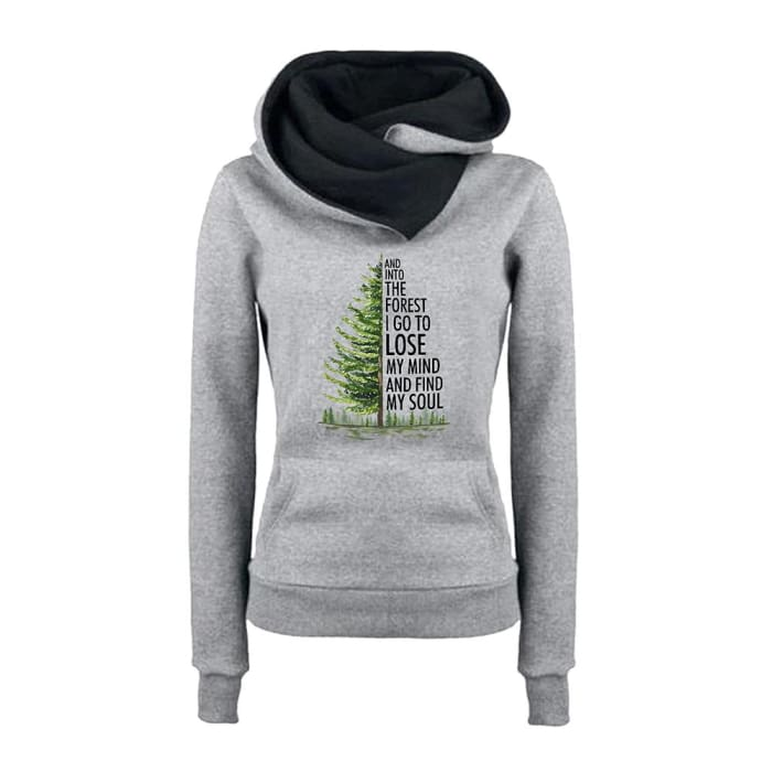 Adoette - And Into The Forest I Go... Hoodie For Her Black / S (US XXS) (UK XS) Just Superb Free Shipping