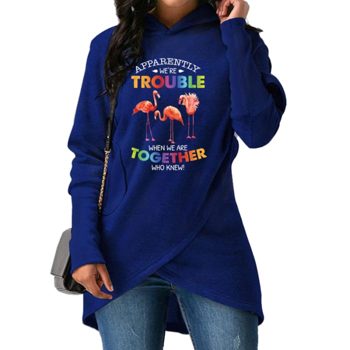 Aleisha - Apparently Were Trouble When We Are Together... Hoodie Blue / S (US XXS / UK XS) Hoodie Just Superb Free Shipping