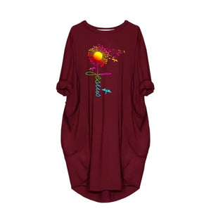 Angelija - Faith Jesus Dandelion Dress For Her Just Superb Free Shipping