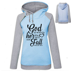 Arianna - Faith God Is Within Her She Will Not Fall Hoodie Blue / S (US XXS) (UK XS) Hoodie Just Superb Free Shipping