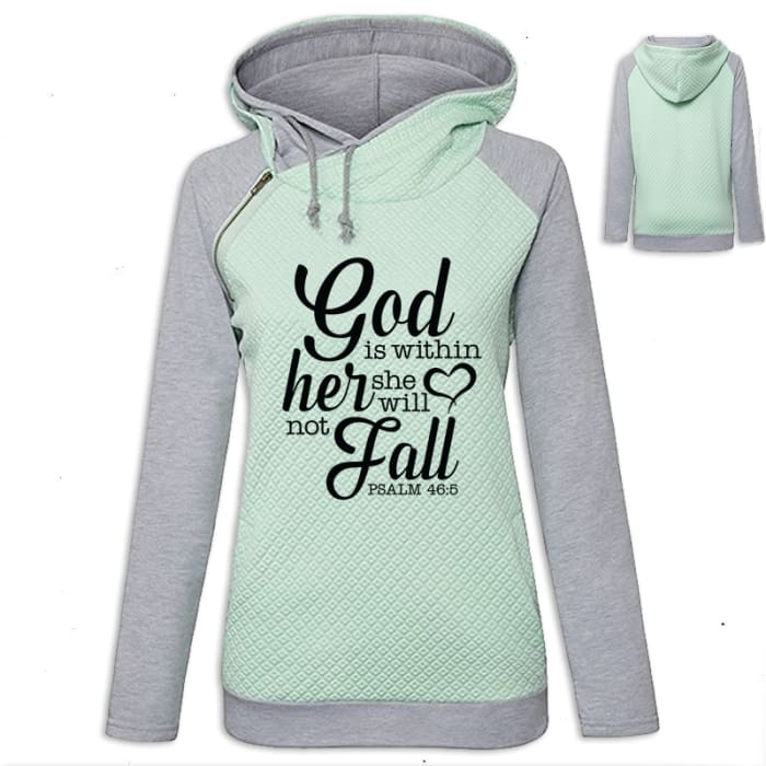 Arianna - Faith God Is Within Her She Will Not Fall Hoodie Green / S (US XXS) (UK XS) Hoodie Just Superb Free Shipping