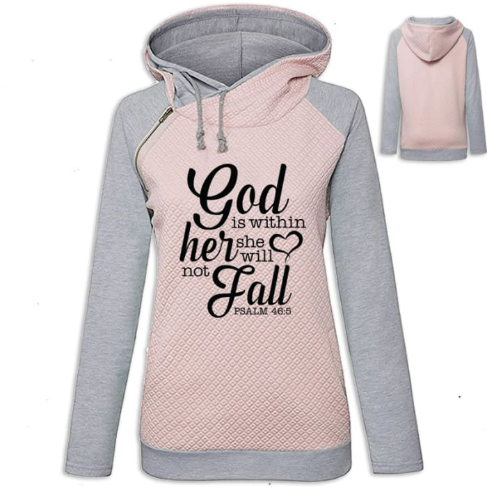Arianna - Faith God Is Within Her She Will Not Fall Hoodie Pink / S (US XXS) (UK XS) Hoodie Just Superb Free Shipping