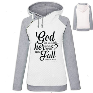 Arianna - Faith God Is Within Her She Will Not Fall Hoodie White / S (US XXS) (UK XS) Hoodie Just Superb Free Shipping