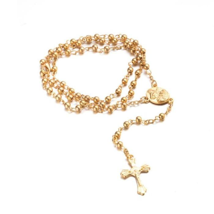 Atarah - The Holy Rosary Gold White Pendant Necklaces Just Superb Free Shipping
