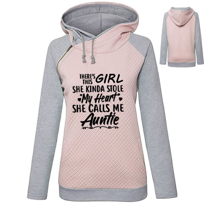 Auntie - Beautiful Hoodie For Loving Aunts Pink / S (US XXS) (UK XS) / Girl Hoodie Just Superb Free Shipping