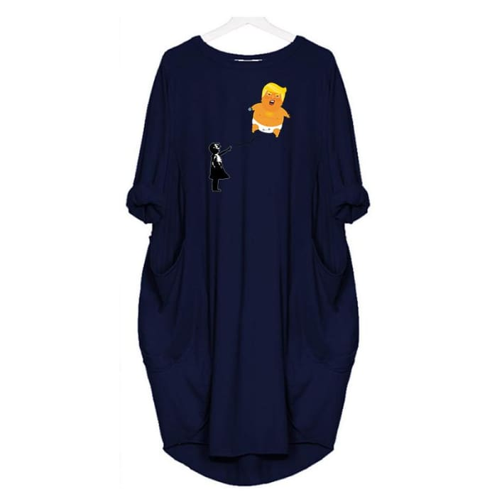 Baby Trump - Dress For Her Blue / S (4-6 US) (8 UK) Just Superb Free Shipping