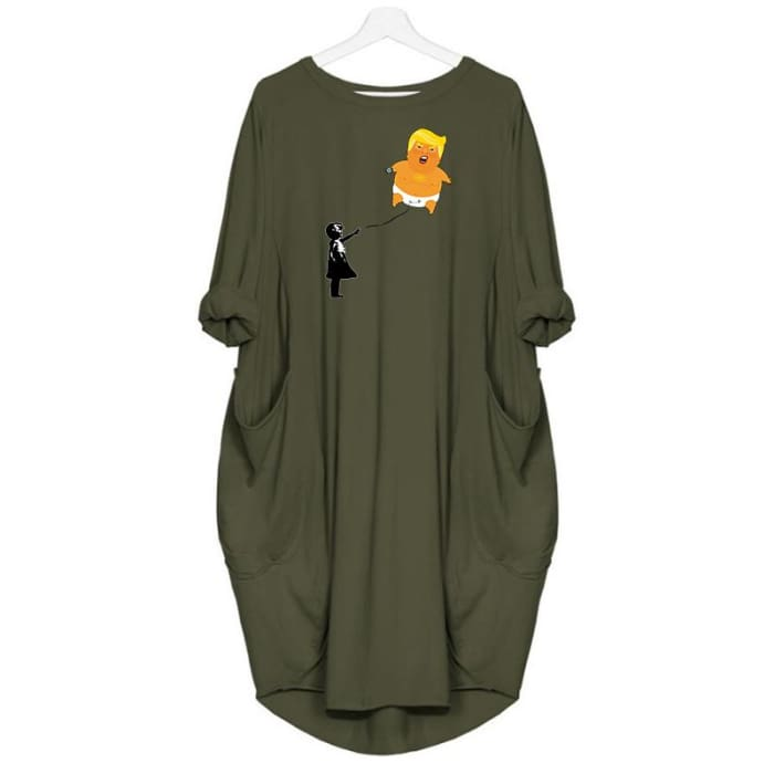 Baby Trump - Dress For Her Green / S (4-6 US) (8 UK) Just Superb Free Shipping