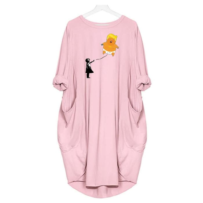 Baby Trump - Dress For Her Pink / S (4-6 US) (8 UK) Just Superb Free Shipping