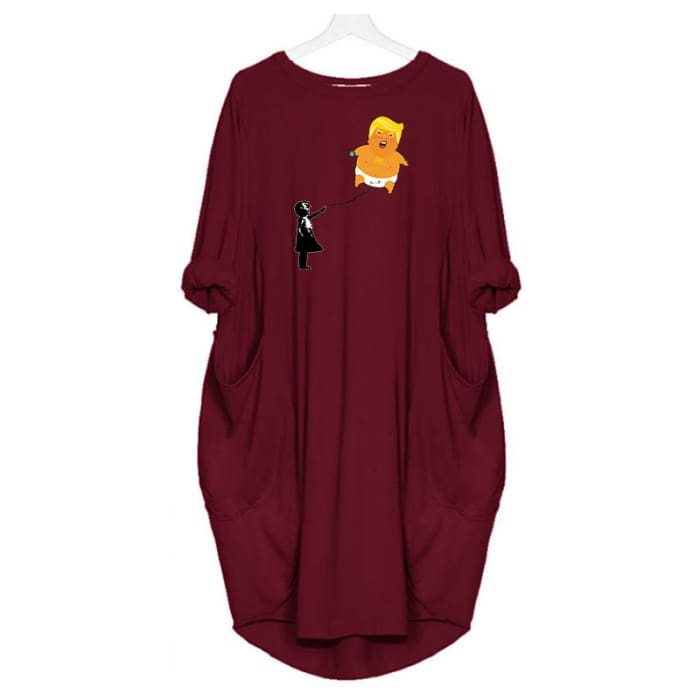 Baby Trump - Dress For Her Red / S (4-6 US) (8 UK) Just Superb Free Shipping