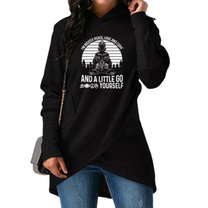 Bernadea - Im Mostly Peace Love And Light And A... Hoodie Black / S (US XXS / UK XS) Hoodie Just Superb Free Shipping