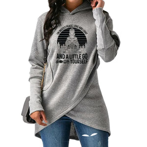 Bernadea - Im Mostly Peace Love And Light And A... Hoodie Gray / S (US XXS / UK XS) Hoodie Just Superb Free Shipping