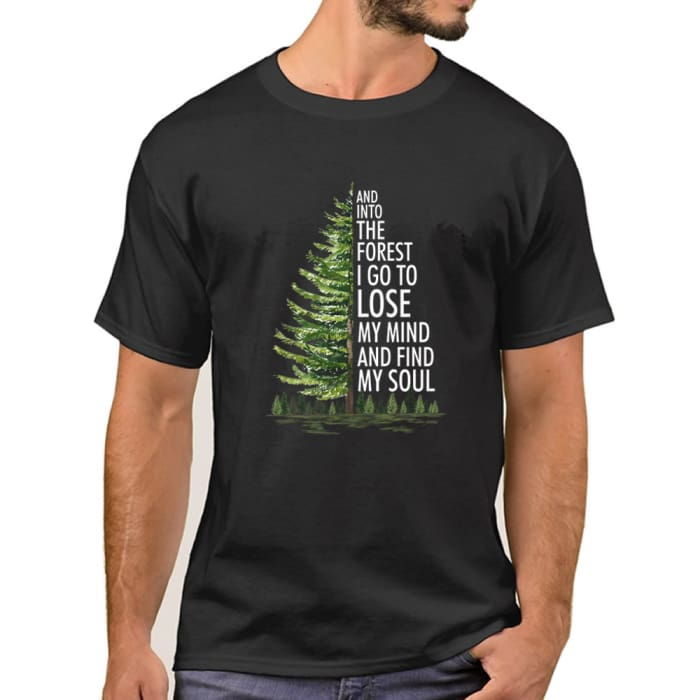 Brynne - And Into The Forest I Go To Lose My Mind... T-Shirt Men / Black / S (4-6 US) (8 UK) Just Superb Free Shipping