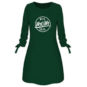 Candace - Chic Wife - Mum - Boss Dress For Her Green / S (4-6 US) (8 UK) Just Superb Free Shipping