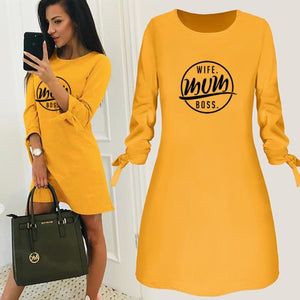 Candace - Chic Wife - Mum - Boss Dress For Her Yellow / S (4-6 US) (8 UK) Just Superb Free Shipping