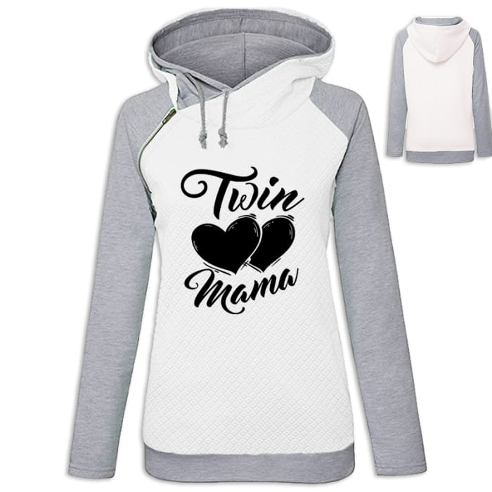 Chelsea - The Mom Of Twins Hoodie White / S (US XXS) (UK XS) Hoodie Just Superb Free Shipping