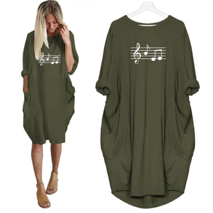 Dolce - Music Notes Dress For Her Just Superb Free Shipping