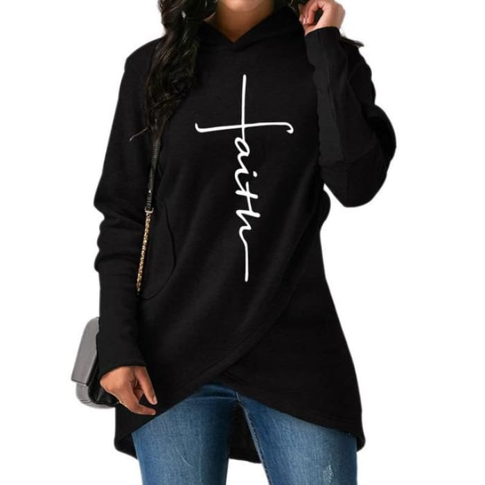 Faith - Chic Designer Pullover For Her Black / S (US XXS) (UK XS) Just Superb Free Shipping