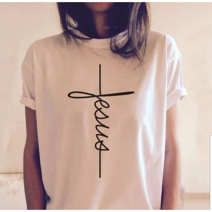 Faith - Glorious Jesus T-Shirt For Her Just Superb Free Shipping