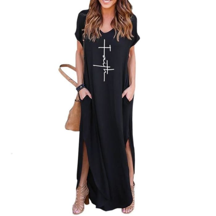 Fayette - Faith Dress Black / S Dresses Just Superb Free Shipping