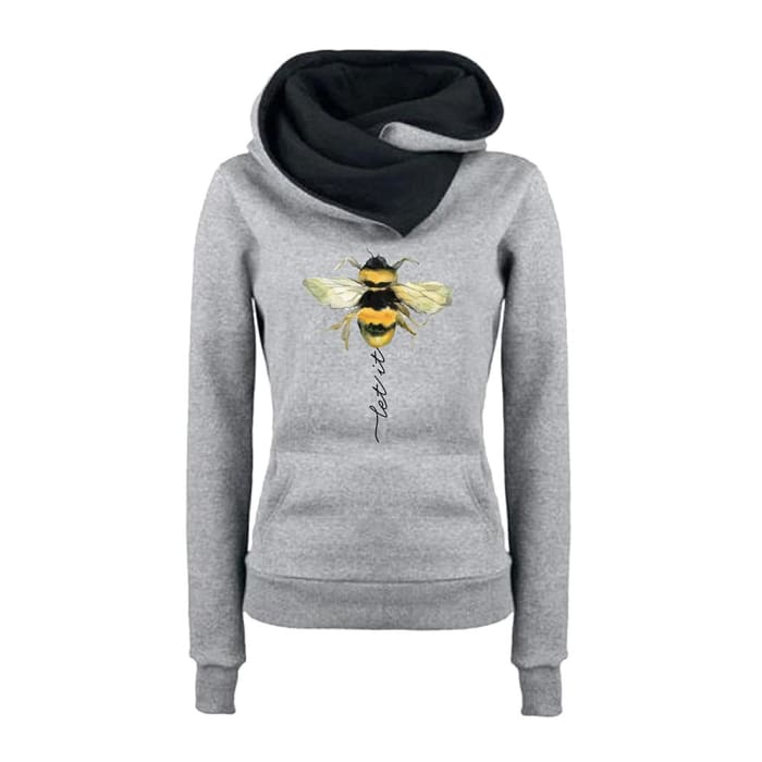 Feretta - Let It Bee Hoodie For Her Black / S (US XXS) (UK XS) Just Superb Free Shipping