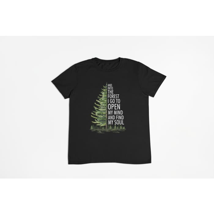 Folia - And Into The Forest I Go To Open My Mind... T-Shirt Men / Black / S (4-6 US) (8 UK) Just Superb Free Shipping