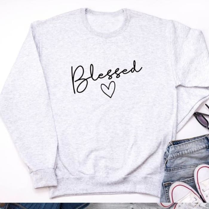 Genevieve - Blessed Sweater For Her Black / S (4-6 US) (8 UK) Hoodies & Sweatshirts Just Superb Free Shipping