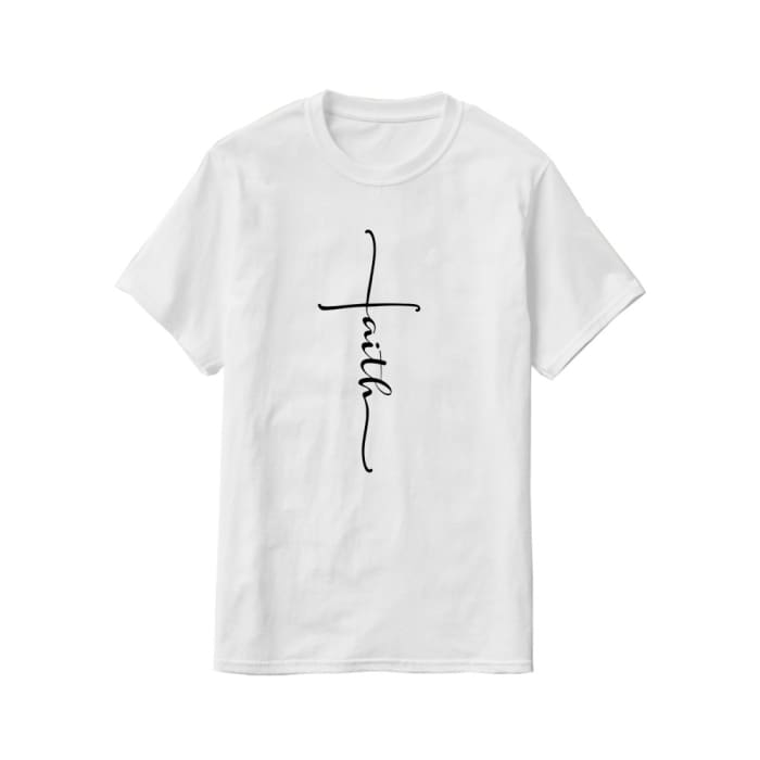 Glorious Faith T-Shirt Men / White / S (4-6 US) (8 UK) Just Superb Free Shipping
