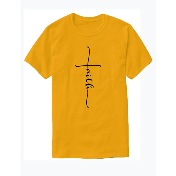 Glorious Faith T-Shirt Men / Yellow / S (4-6 US) (8 UK) Just Superb Free Shipping