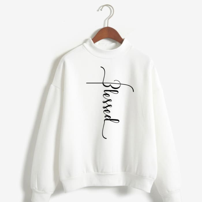 Hannah - Blessed Sweater For Her White / S (US XXS / UK XS) Just Superb Free Shipping