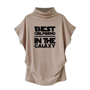 Hattie - Best Girlfriend In The Galaxy Casual Turtleneck Blouse Blouses & Shirts Just Superb Free Shipping