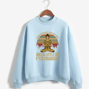 Hattie - Im Mostly Peace Love And Light... Sweater Blue / S (US XXS / UK XS) Just Superb Free Shipping