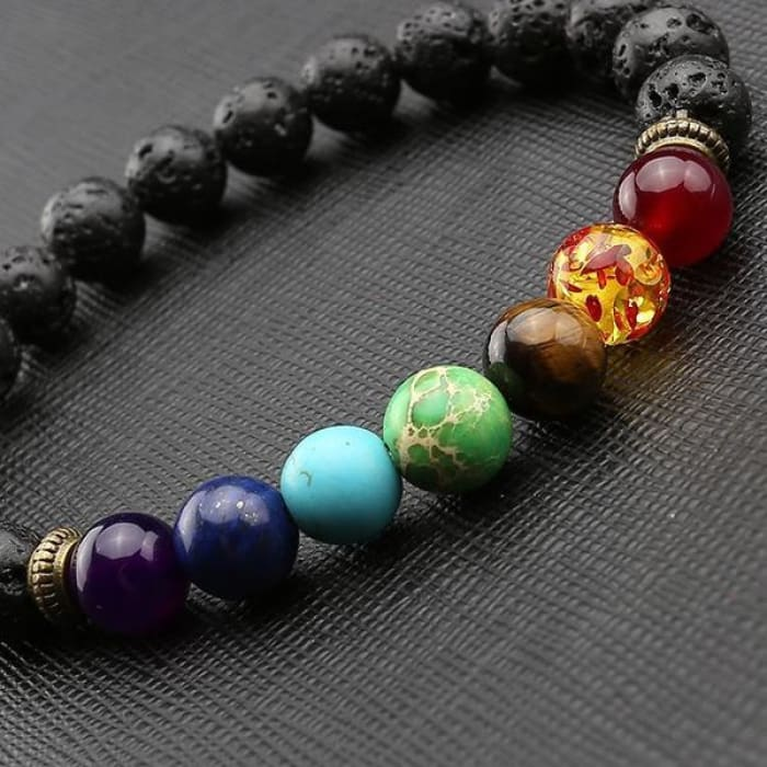 Heal - Natural Healing Chakra Stones Bracelet Just Superb Free Shipping