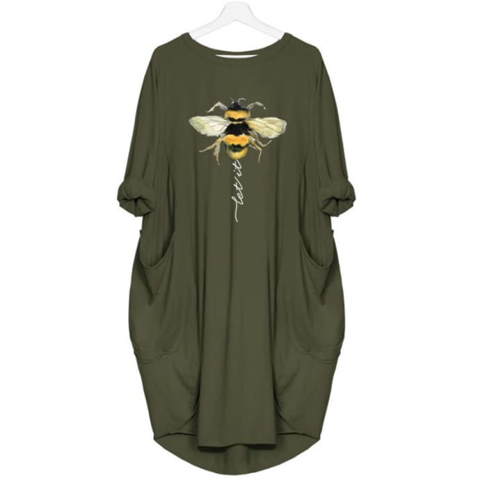 Laetitia - Let It Bee Dress For Her Green / S (4-6 US) (8 UK) Just Superb Free Shipping