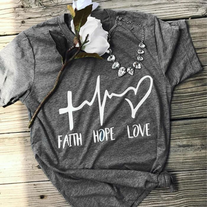 Maria - Beautiful Faith-Hope-Love T-Shirt For Her Just Superb Free Shipping