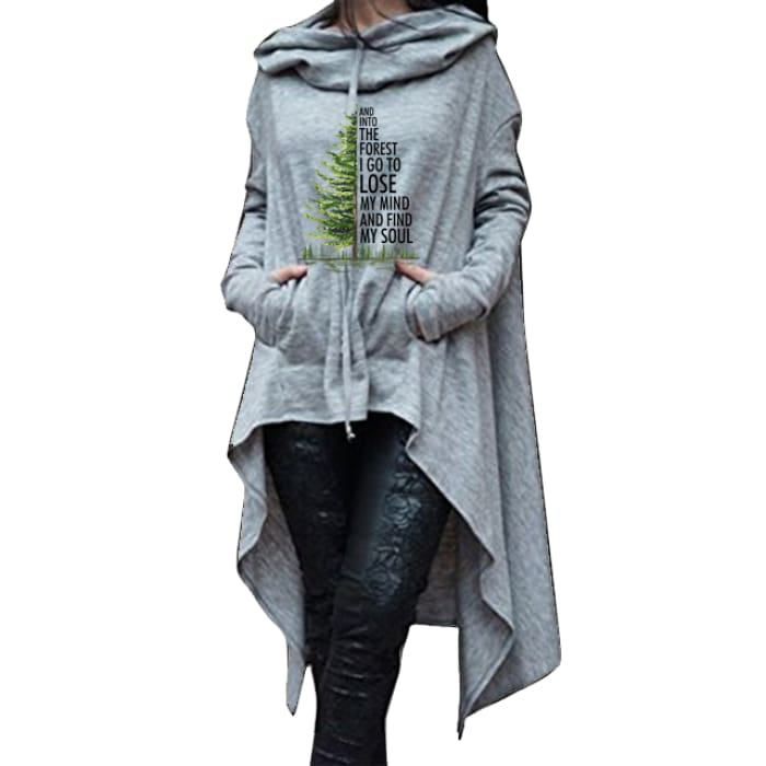 Meadow - And Into The Forest I Go To Lose My Mind... Hoodie For Her Black / S (US XXS) (UK XS) Hoodie Just Superb Free Shipping