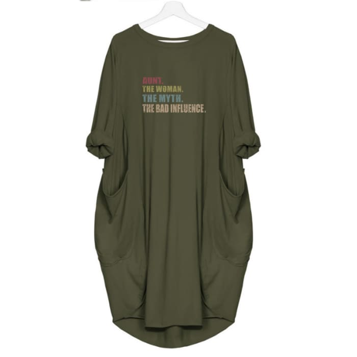 Meeri - Aunt. The Woman. The Myth. The Bad Influence Dress For Her Green / S (4-6 US) (8 UK) Just Superb Free Shipping