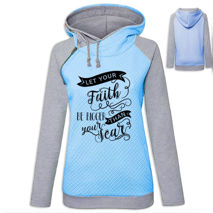 My Faith - Let Your Faith Be Bigger Than Your Fear Hoodie Pink / S (US XXS) (UK XS) Hoodie Just Superb Free Shipping