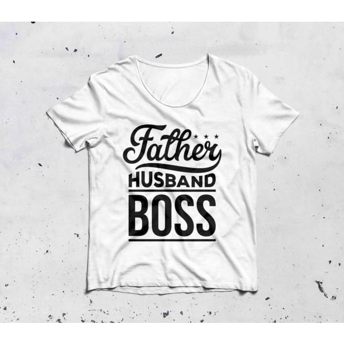Papa - Father Husband Boss T-Shirt For Him Just Superb Free Shipping