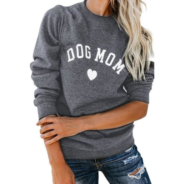 Puppy - Dog Mom Pullover Dark Grey / S (US XXS) (UK XS) Just Superb Free Shipping