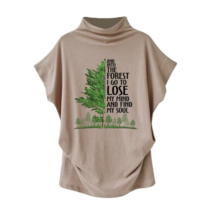 Selima - And Into The Forest I Go To Lose My Mind... Casual Turtleneck Blouse Blouses & Shirts Just Superb Free Shipping