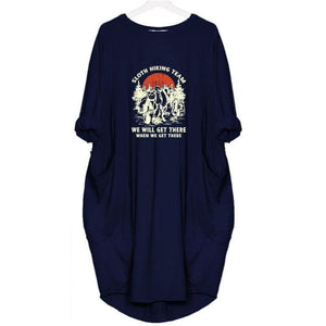 Sloana - Sloth Hiking Team... Dress For Her Blue / S (4-6 US) (8 UK) Just Superb Free Shipping