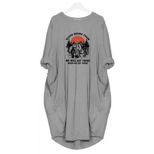 Sloana - Sloth Hiking Team... Dress For Her Gray / S (4-6 US) (8 UK) Just Superb Free Shipping