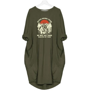 Sloana - Sloth Hiking Team... Dress For Her Green / S (4-6 US) (8 UK) Just Superb Free Shipping