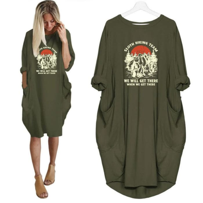 Sloana - Sloth Hiking Team... Dress For Her Just Superb Free Shipping