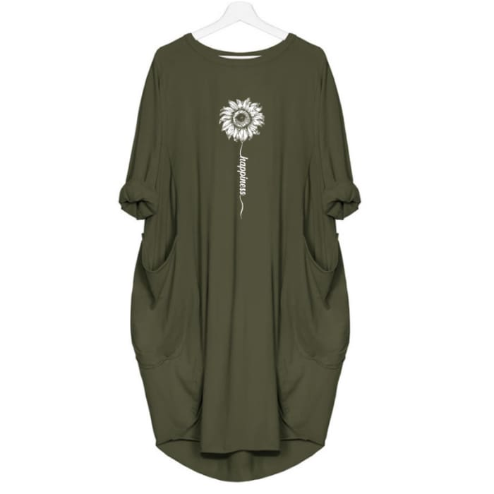 Sunflora - Happiness Sunflower Dress For Her Green / S (4-6 US) (8 UK) Just Superb Free Shipping