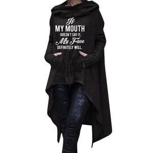 Suzy - If My Mouth Doesnt Say It My Face Definitely Will Hoodie Hoodie Just Superb Free Shipping