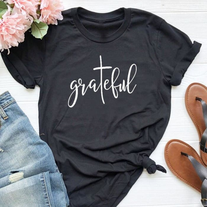 The Grateful T-Shirt Black / S T-Shirts Just Superb Free Shipping